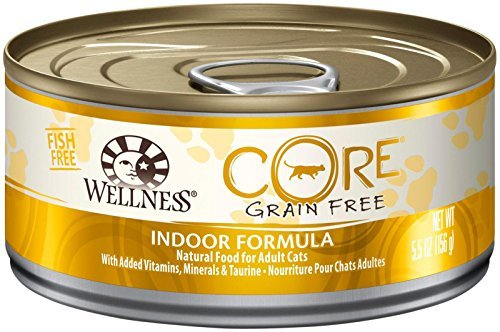 Wellness CORE Natural Grain Free Wet Canned Cat Food - Indoor Health Recipe - 24x5.5oz by Wellness Core by Wellness CORE