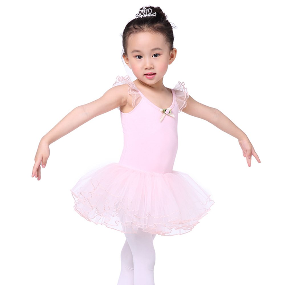 39e7c3c93ec7 Amazon.com  Valchirly Girls Ballet Dance Leotard Tutu Dress Kids ...