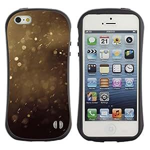 Suave TPU GEL Carcasa Funda Silicona Blando Estuche Caso de protección (para) Apple Iphone 5 / 5S / CECELL Phone case / / Summer Dust Specks Brown Nature /