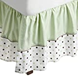 American Baby Company Fashion Crib Skirt, Celery Dots