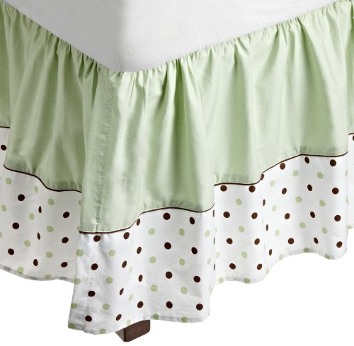 American Baby Company Fashion Crib Skirt, Celery Dots