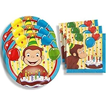 Amazon Com Curious George Birthday Party Supplies Set Large