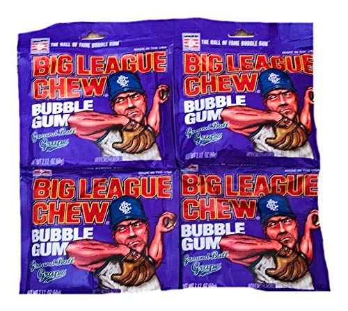 Big League Chew Ground Ball Grape | 4 Pack of 2.12 Bags ()