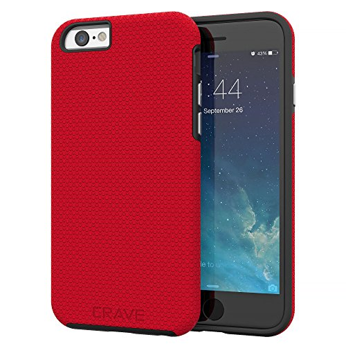 iPhone 6 Case, iPhone 6S Case, Crave Dual Guard Protection Series Case for iPhone 6 6s (4.7 Inch) - Red