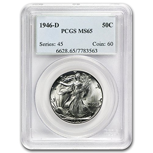 1946 D Walking Liberty Half Dollar MS-65 PCGS Half Dollar MS-65 PCGS