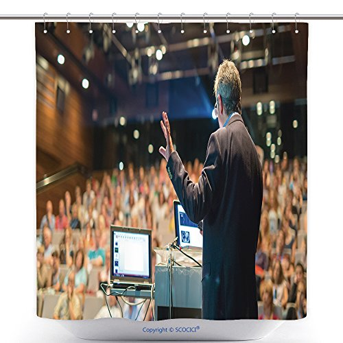 Victorian Music Hall Costumes (Antibacterial Shower Curtains Speaker Giving A Talk On Corporate Business Conference Audience At The Conference Hall Business 481869205 Polyester Bathroom Shower Curtain Set With Hooks)