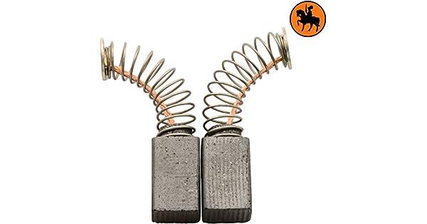 2.4x2.8x4.3 Escobillas de Carb/ón para SKIL F015009401 cepillo 6x7x11mm