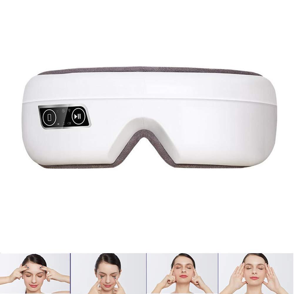 アイマッサージャーヒート、音楽そして振動充電式目のひずみのために、ドライアイ、応力緩和そしてくま眼リラックスセラピー B07K9YVJMK