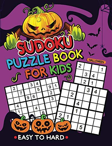 Halloween Sudoku Puzzle Book for Kids: Easy to Hard with Coloring Pages
