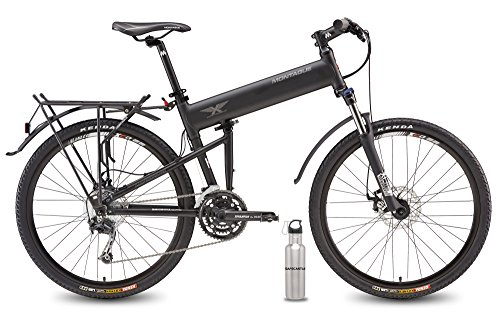 2016 Montague Paratrooper Pro Folding Mountain Bike 18' Frame, 27 Speeds with Safecastle Stainless Steel Water Bottle …
