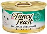 Fancy Feast Gourmet Cat Food, Cod Sole and Shrimp Feast, Classic 3-Ounce Cans (Pack of 24), My Pet Supplies