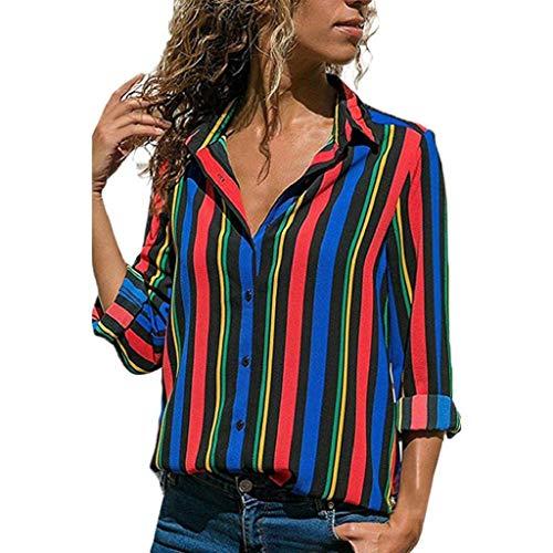 Femme Chemise Longues Shirt T Bleu Manches Longues Longues Manches Large Blanche Trydoit Manches 8zwx5SnqF