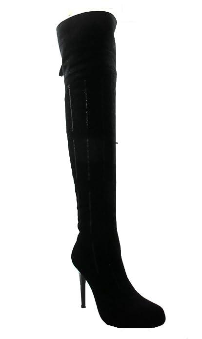 Amazon.com | Dan Sara 7980 Women's Suede Over The Knee Suede High ...