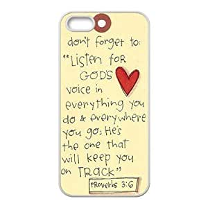 Cool Painting Bible Verse DIY Cover Case for Iphone 5,5S,personalized phone case case620281