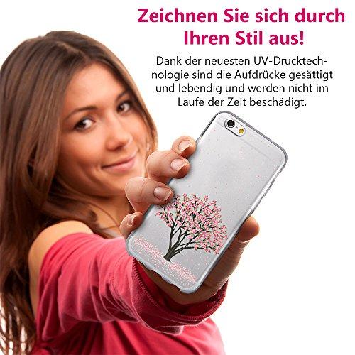 EGO® Double Touch Case + GRATIS Ladekabel Armband für iPhone 4 4S Motiv 1 Baum 360 ° Grad komplette TPU Silikon Hülle vorne hinten Beidseitiger Schutz Full Handy Tasche transparent Front Back doppelse