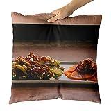 Westlake Art - Salad Restaurant - Decorative Throw Pillow Cushion - Picture Photography Artwork Home Decor Living Room - 18x18 Inch (7055E)