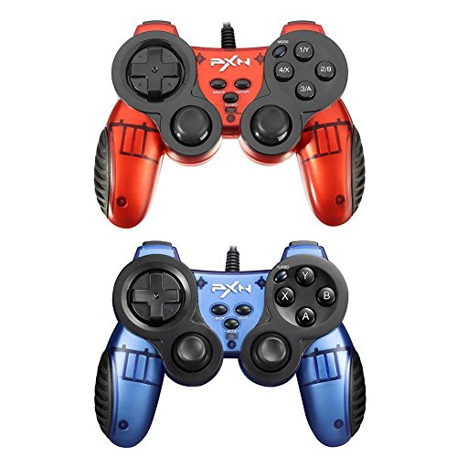 Price comparison product image PXN-2901 Sword Wired Dual Vibration Gamepad Controller Joystick for PS3 PC