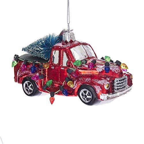 (Kurt S. Adler 5-Inch Noble Gems Glass Truck with Trees Ornament)