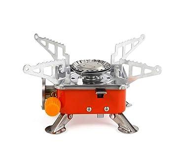 CY&Y Estufa de Gas portátil para Acampar, Estufa Plegable Cuadrada, Quemador de Gas butano