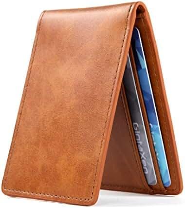 Ultra Slim Mini Size Wallet ID Window Card Case with RFID Blocking