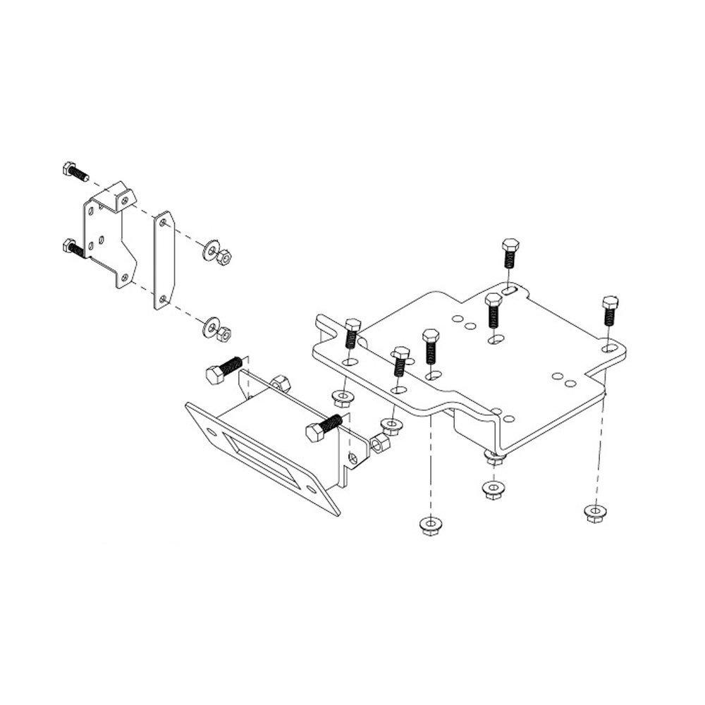 Kolpin Winch Mount Polaris Rzr 570 2012 2016 Automotive Wiring Diagram In Addition As Well