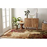 Home Dynamix HD5282-999 Amelia Modern Area Rug, 5'2'x7'2' Rectangle, Beige/Green/Red