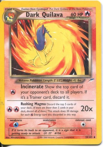 Pokemon Neo Destiny Uncommon Card #39/105 Dark Quilava (Card Quilava Pokemon)