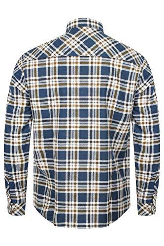 Nuovo Colletto Tartan Tokyo Maniche A Uomo Scacchi Casual Check Camicie Blue Con Laundry Lunghe CqxPC0Fwn