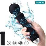 Wand-Massaggiatore-portatile-Magic-Wand-impermeabile-Personale-Wireless-Massaggio-Elettrico-con-20-modalit-di-vibrazione-8-velocit-per-Alleviare-la-Tensione-Muscolare-USB-Ricaricabile-nero
