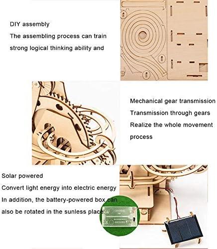 Houten modelbouwkits voor volwassenen Wetenschapskit om te bouwen op zonne-energie Cirkelende bergweg Mechanische bouwkit voor tieners en volwassenen
