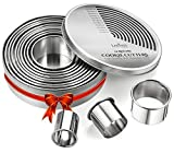 Round Cookie Biscuit Cutter Set, 12 Graduated