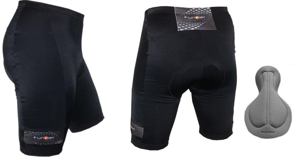9e58093f9 Funkier 7 Panel Anatomic Gents Cycling Shorts (Extra Large)  Amazon.co.uk   Sports   Outdoors