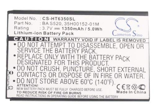 - Cameron Sino 1350mAh/4.99Wh Li-ion High-Capacity Replacement Batteries for Verizon Droid Incredible 2 , fits HTC 35H00152-04M, 35H00152-05M