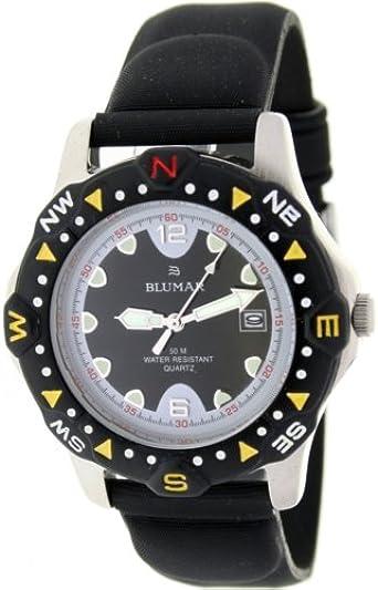BLUMAR 0770103-1 Reloj Caballero Acero ANTILERGICO Sumergible 50M Correa