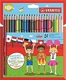 STABILO color - Lápiz de colorear (24 unidades, estuche de cartón)