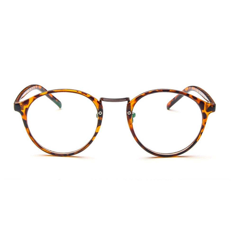 128228580c5b9 Forepin Lunettes rondes vintage rétro reg; Monture lunettes de vue  transparent pour femme et homme Pont métalliques + Branches plastique +  Cadre léopard: ...