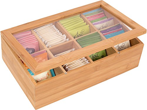Bamboo 8 Section Storage Trademark Innovations