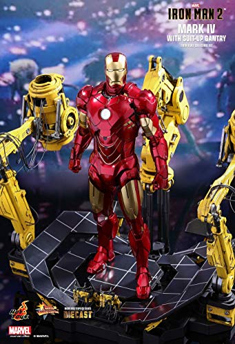 Hot Toys HT Cosbaby Original Iron Man 2 Tony Stark Mark IV 4 Suit-up Gantry 2.0 1/6th Scale Exclusive Collectible Set Figures Movies Avengers 3 Infinity War Marvel Disney Comics MMS462D22 ()