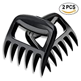 Bear Claw Meat Shredder,BBQ Pulled Pork Claws,Shredding Handling & Carving Food,Bear Claw Meat Separator Essential for Slow Cooker, Grill or Smoker in Record Time(2 Set of,Black)