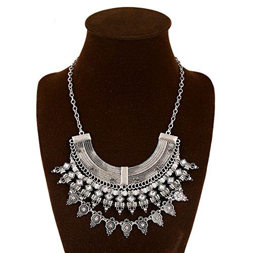 Commerce de gros de longues sections de bijoux bohémien national de vent de sable de la chaîne de collier manuel de pierres précieuses