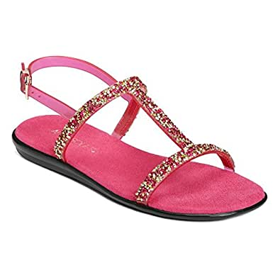 Aerosoles Women's Good Chlue Sandal,Dark Pink Combo Synthetic,US 6 M