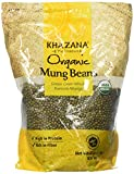 Khazana, Organic Mung Beans (Green Gram Whole), 2 Pound(LB)