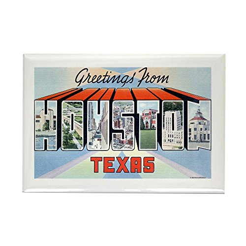 CafePress - Houston Texas TX Rectangle Magnet - Rectangle Magnet, 2