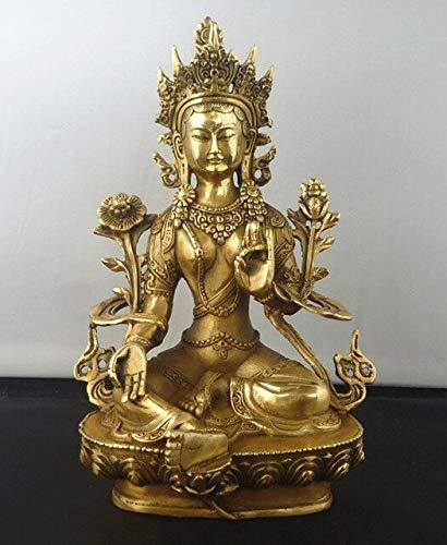 Bronze Buddha Statue - Metal Crafts Tibetan Buddhism Copper Green Tara God Kwan-Yin Buddha Statue - by GTIN - 1 Pcs - Buddha Statue Large - Giant Buddha Statue