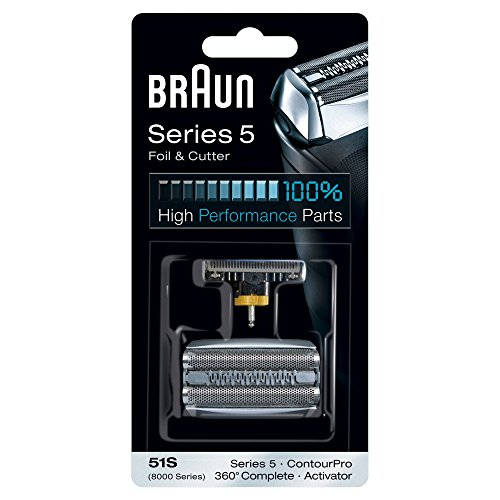 Braun 51S Series 5 Electric Shaver Replacement Foil and Cassette Cartridge - Silver (Braun Replacements)