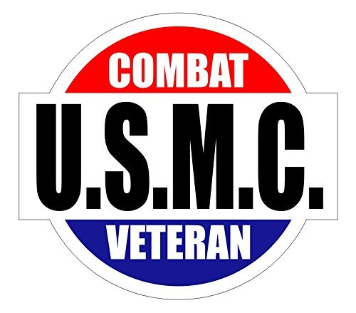 Smores Combat (USMC Combat Veteran Hard Hat / Helmet Sticker Decal Label Emblem)