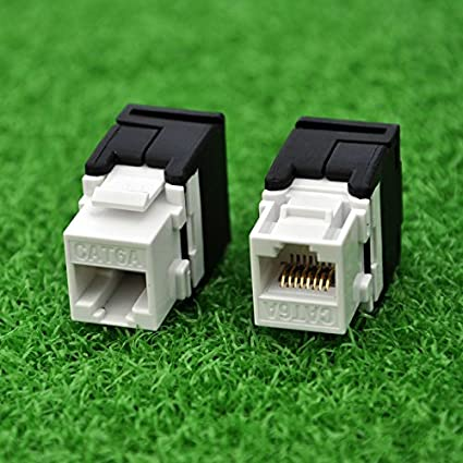 CAT.6A Class Ea Cable Length: 50pcs per Pack RJ45 Keystone Jack Network Connector -Connection Adapter - ShineBear 10G Network Cat6a