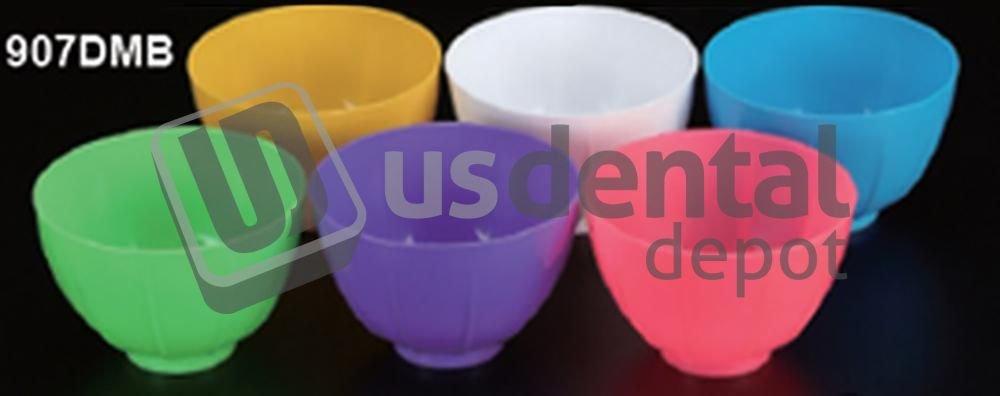 PLASDENT - Disposable Mixing Bowls Blue - # 907DMB-2N - (12 Pcs/Bag) - Color: Neon Blue 001-907DMB DENMED Wholesale