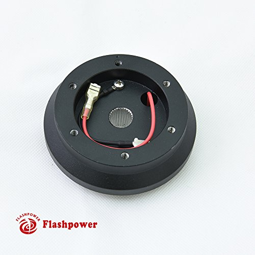 - Flashpower Steering Wheel Short Hub Adapter Billet Black For Acura Integra Honda Civic