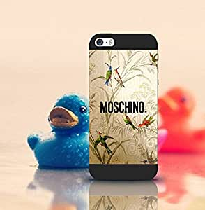 Moschino Iphone 5 Cell Phone Funda Case, Hard Funda Case Ultra Thin Scratch-Proof Drop Protection Back Film Protector Skin For Iphone 5